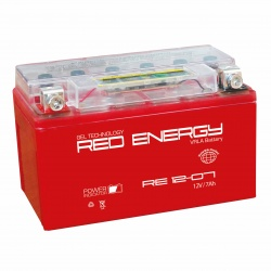 Red Energy RE 12-07, 7Ач, 110А, (150x86x94) YTX7A-BS