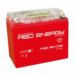 Red Energy RE 12-09, 9Ач, 140А (150x86x108) YTX9-BS, YTX9