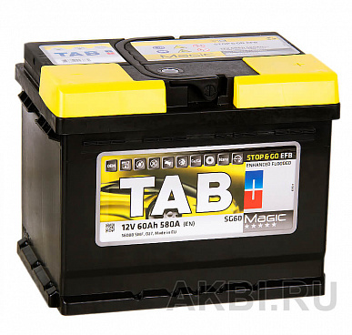 Tab Magic EFB Stop Go 60R (580A 242x175x190) 212060 56088 Start-Stop