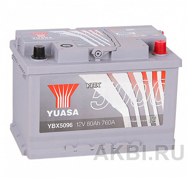 YUASA YBX5000 80R (760А 278x175x190) Silver High Performanse YBX5096
