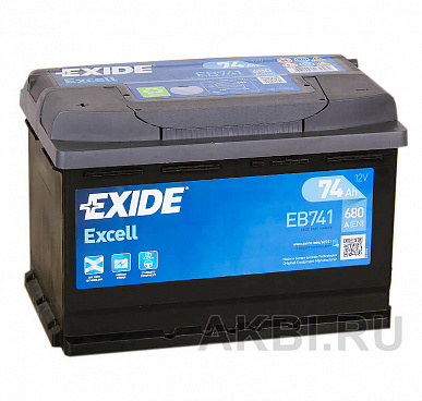 Exide Excell 74L (680A 278x175x190) EB741