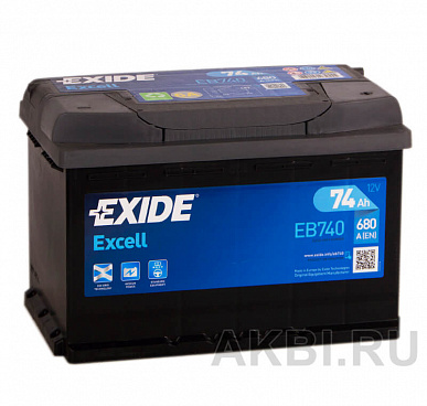 Exide Excell 74R (680A 278x175x190) EB740
