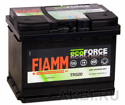 Fiamm Ecoforce AFB 60R 520A (242x175x190) EFB Start-Stop TR520