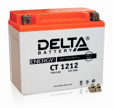 Delta CT 1212, 12Ач, 180А (150x87x132) YTX14-BS, YTX12-BS