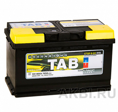Tab Magic EFB Stop Go 80R (760A 315x175x190) 212080 58088 Start-Stop