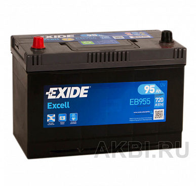 Exide Excell 95L (720A 306x173x225) EB955