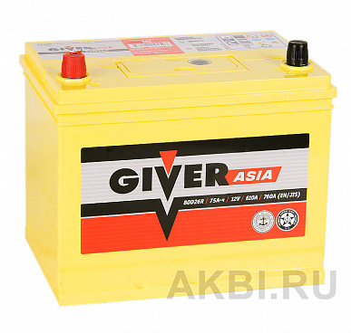 Giver 80D26R (75L 610A 260x173x225)