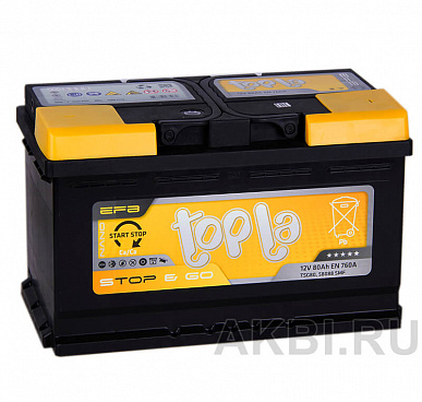 Topla EFB Stop Go 80R (760A 315x175x190) 112080 58088 Start-Stop