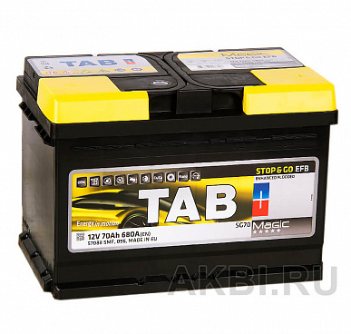 Tab Magic EFB Stop Go 70R (680A 278x175x190) 212070 57088 Start-Stop