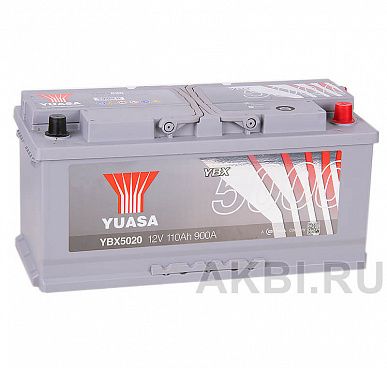 YUASA YBX5000 110R (900А 393x175x190) Silver High Performanse YBX5020