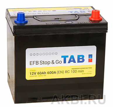 Tab Magic EFB Stop Go 60R (600A 232x173x225) 212860 56068 Start-Stop